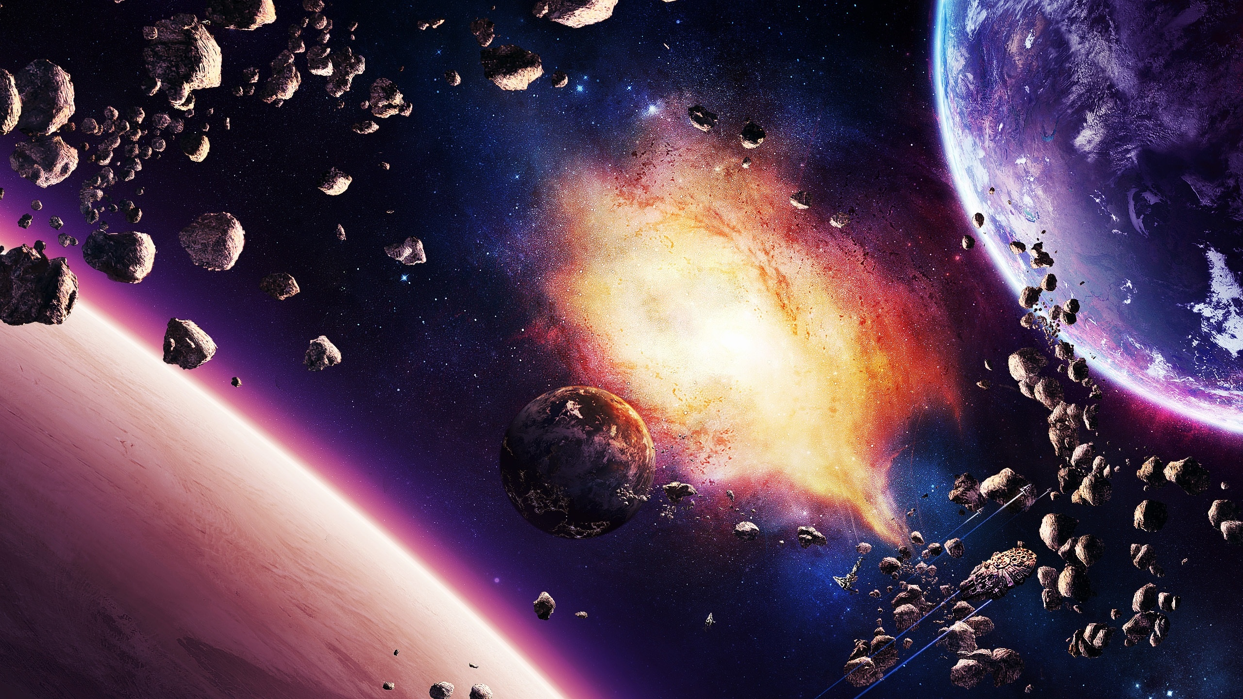 Space intense activity wallpapers 2560x1440 1860850 - Space 2560 x 1440 ...