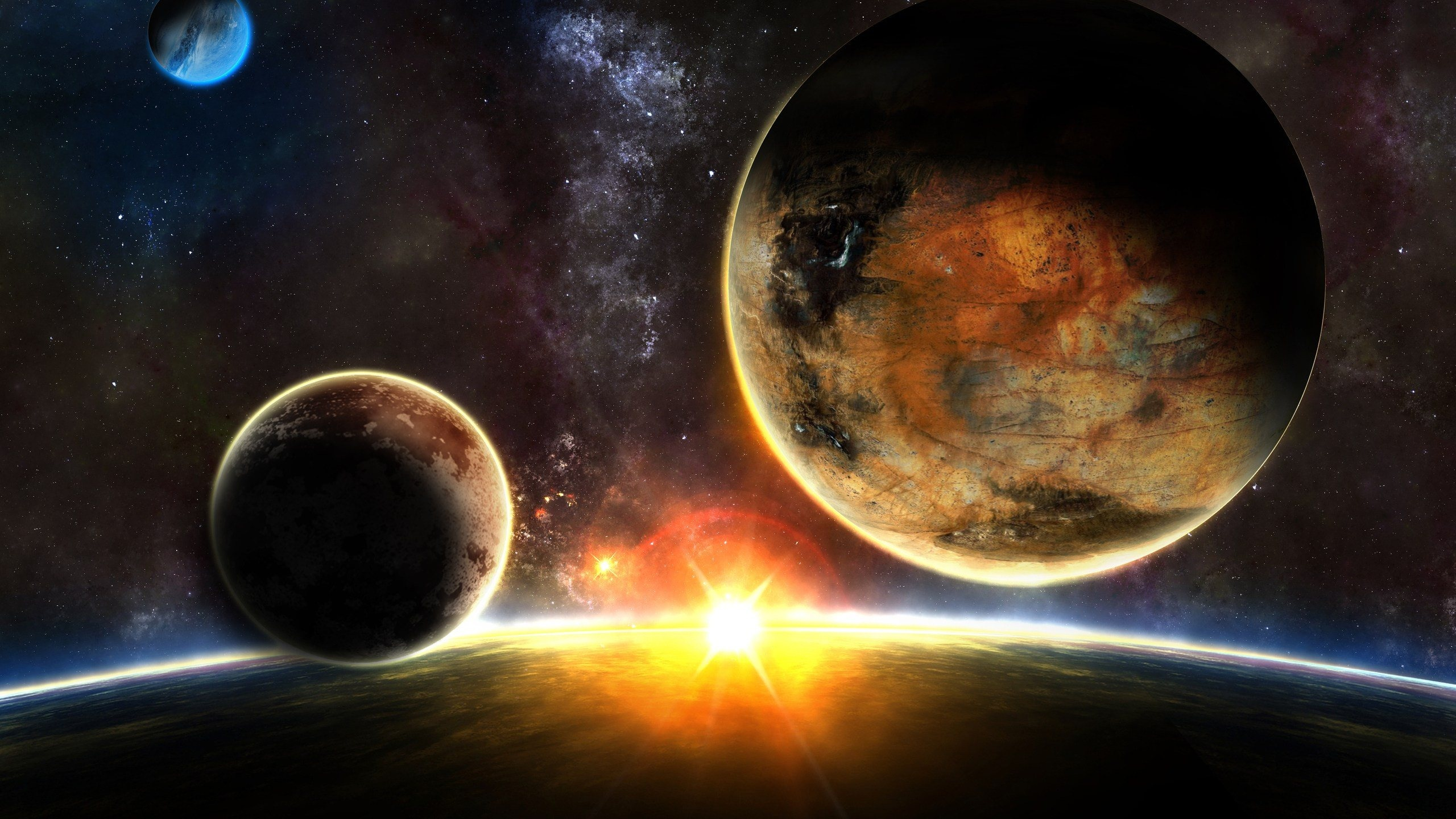 Space sunrise wallpapers 2560x1440 929013 - Space 2560 x 1440 ...