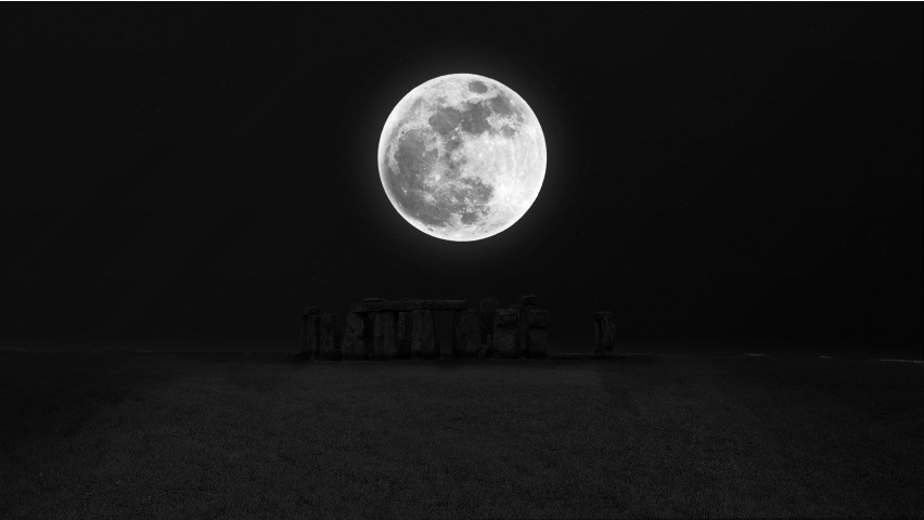Stonehenge Moon Night Darkness