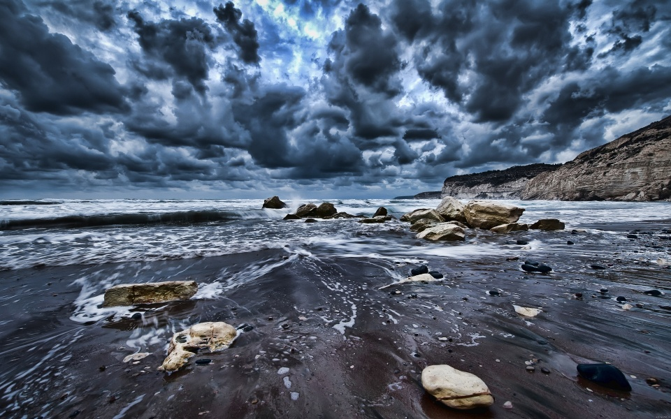 Stormy Clouds Over the Sea