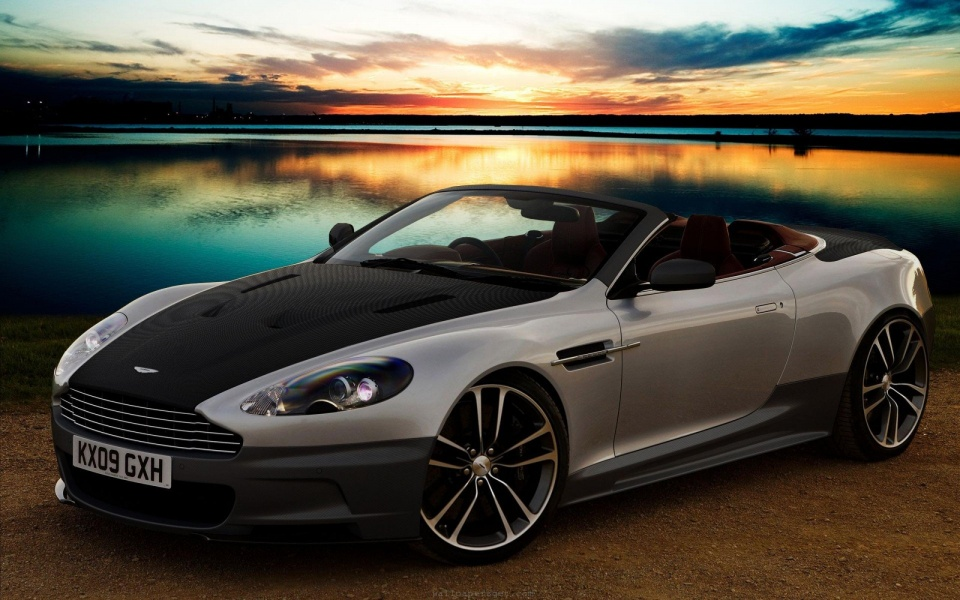 Sunset From Aston Martin DB9 Cabrio