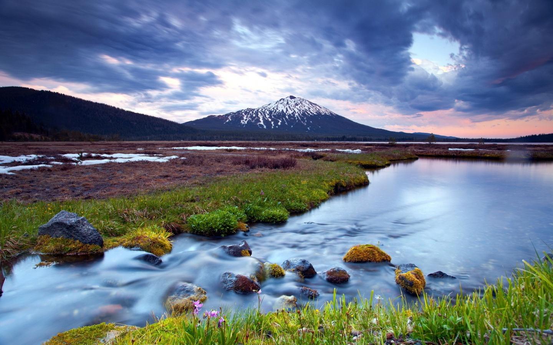 Sunset mountain landscape 1440 x 900 download close