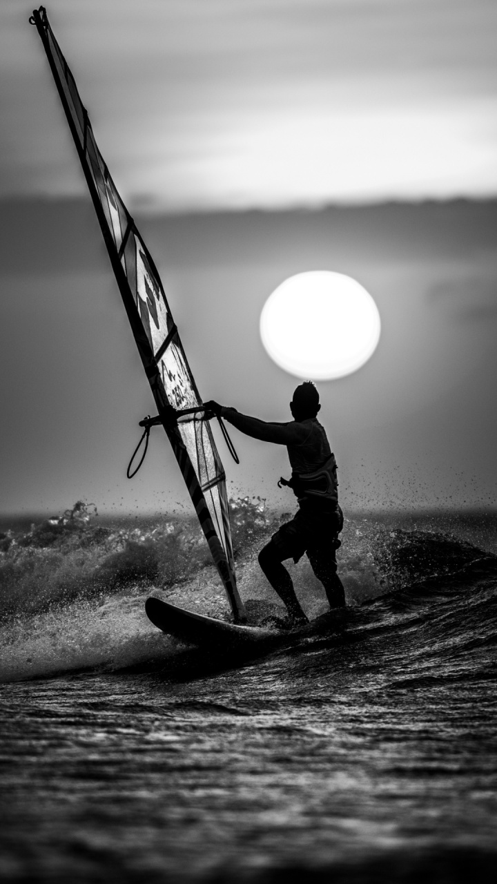 Sunset Windsurfing