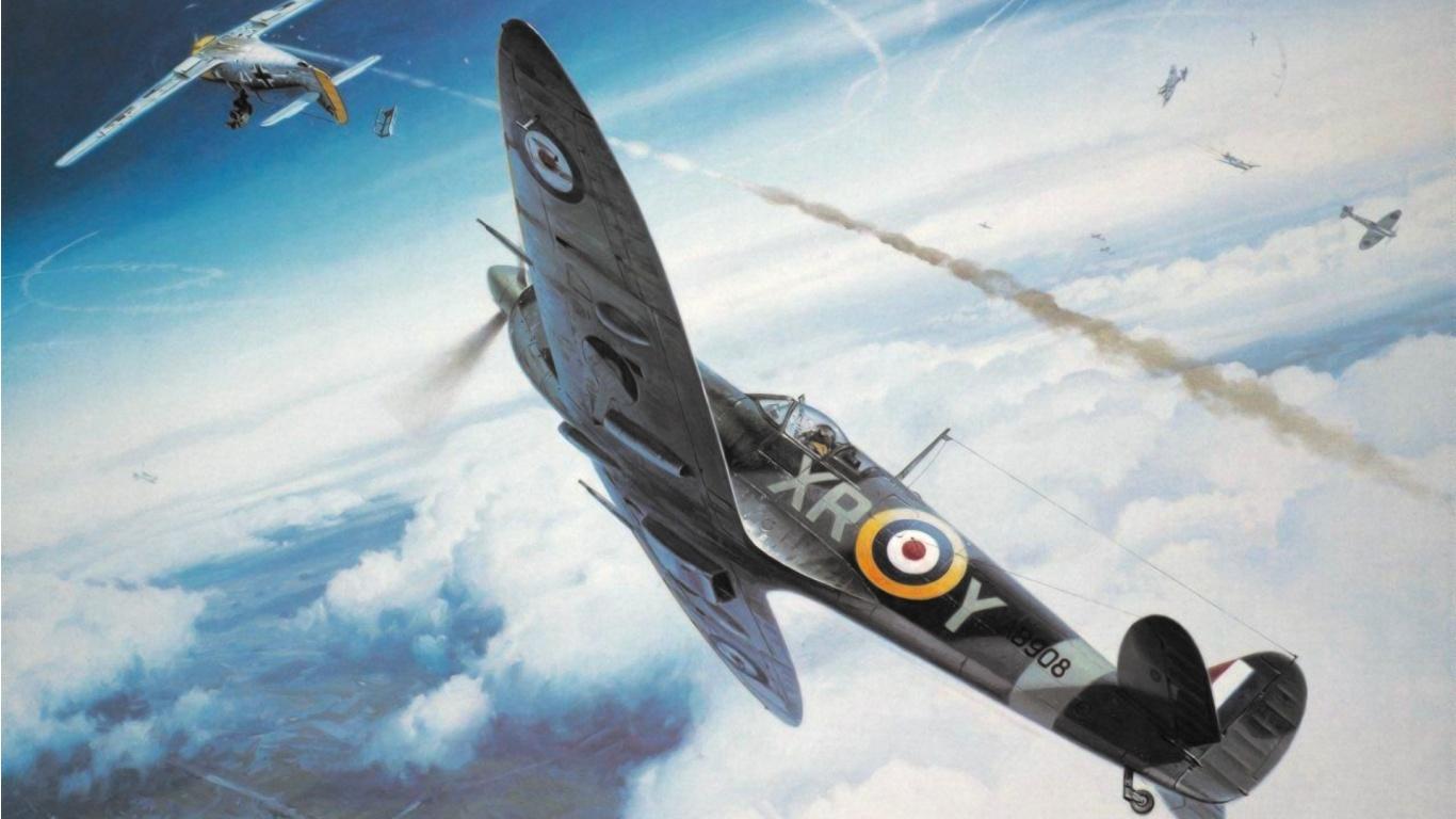 Supermarine Spitfire Art Wallpapers - 1366x768 - 254780