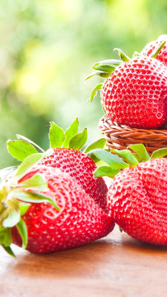 Sweet Fresh Strawberry On Basket
