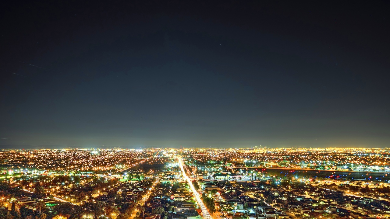 The South Bay Los Angeles Lights Night