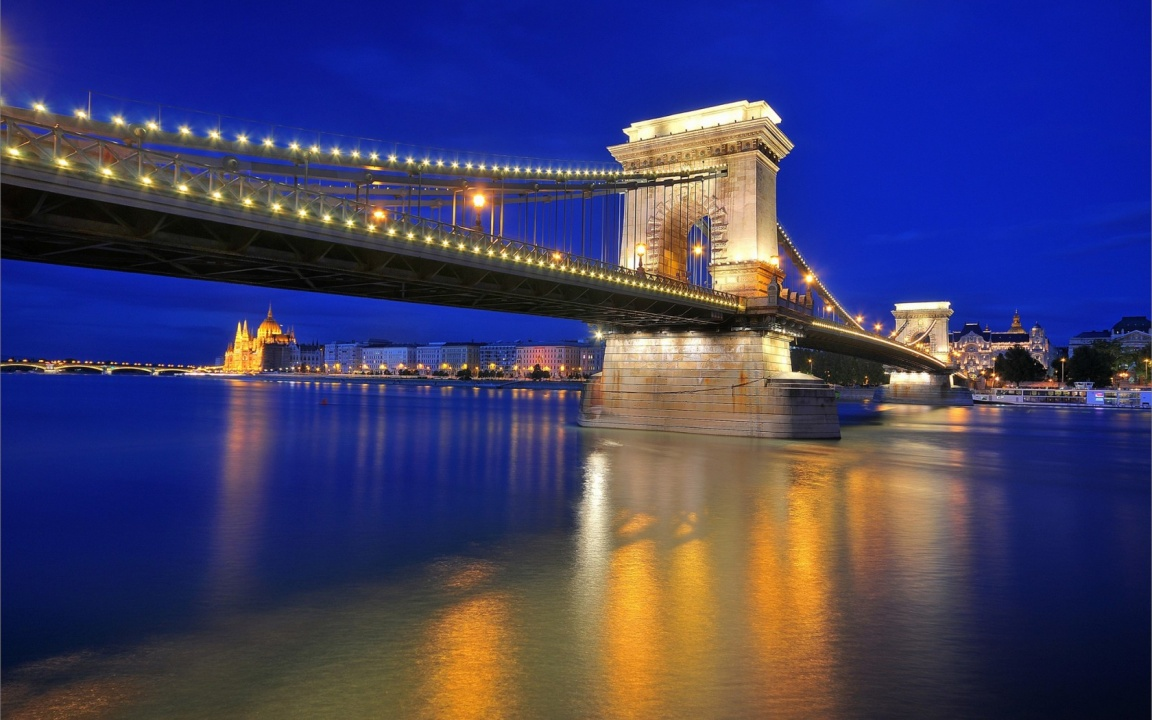 The Szechenyi Chain Bridge Budapest