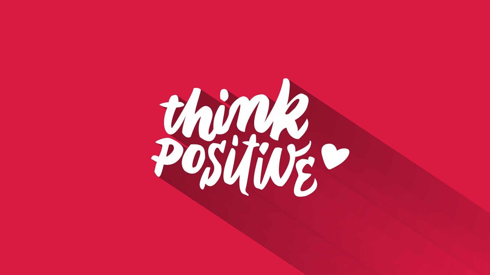 Think Positive Pink Background