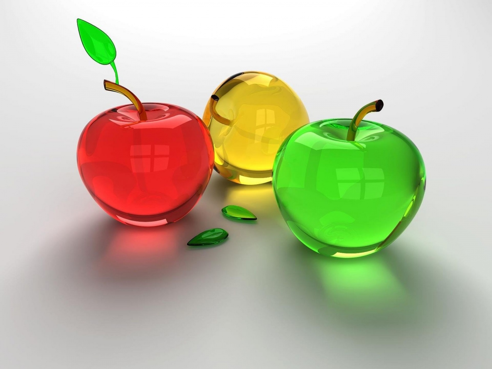 Three Colored Apples
