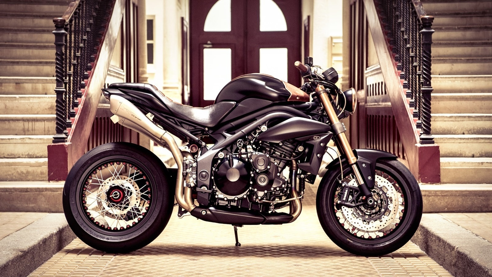 triumph speed triple cafe wallpapers - 1600x900 - 565004
