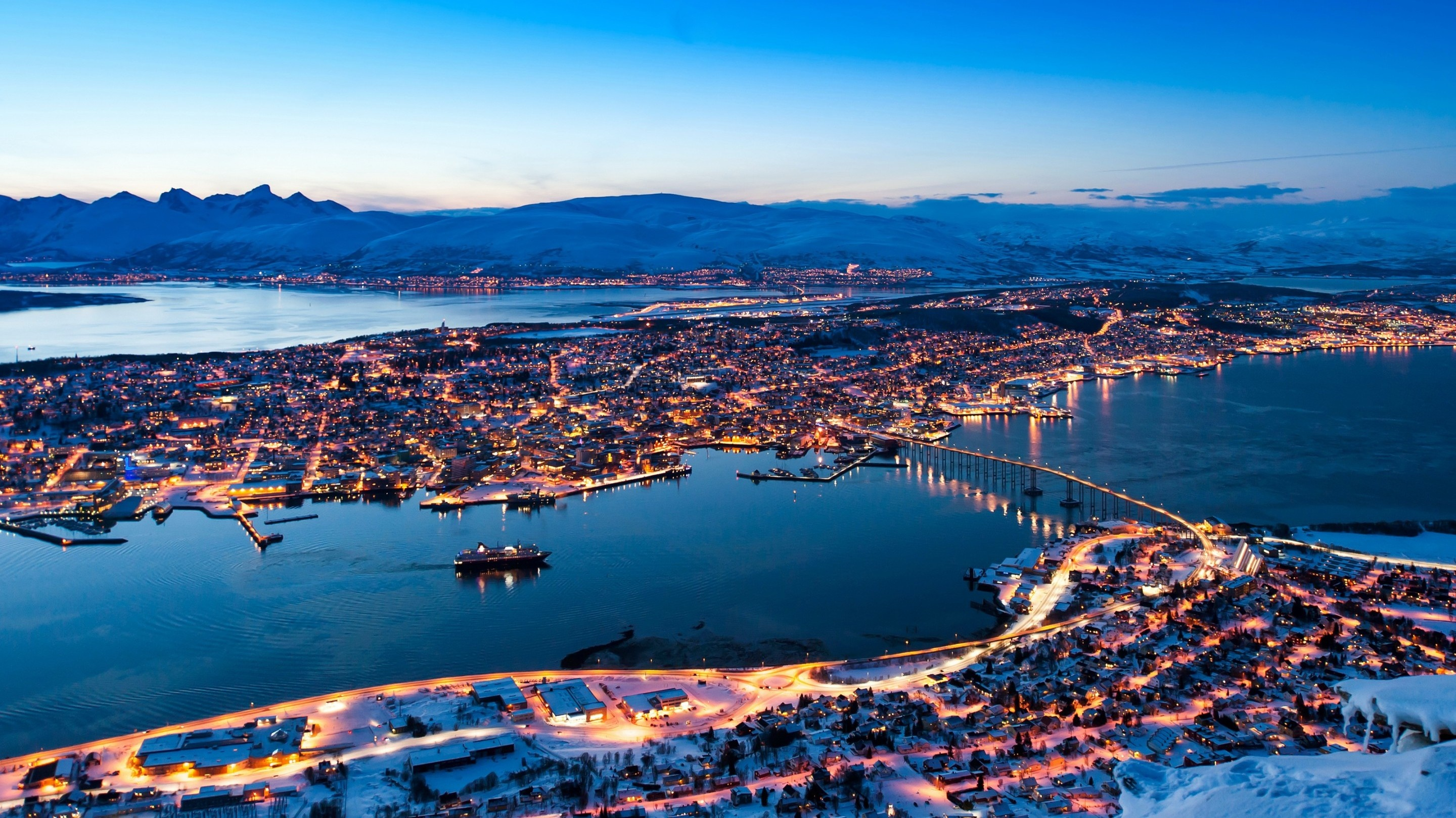 Tromso Winter Evening Norway