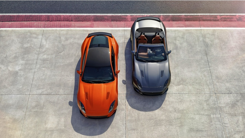 Two Cars Jaguar F Type SVR V3 2000 2017