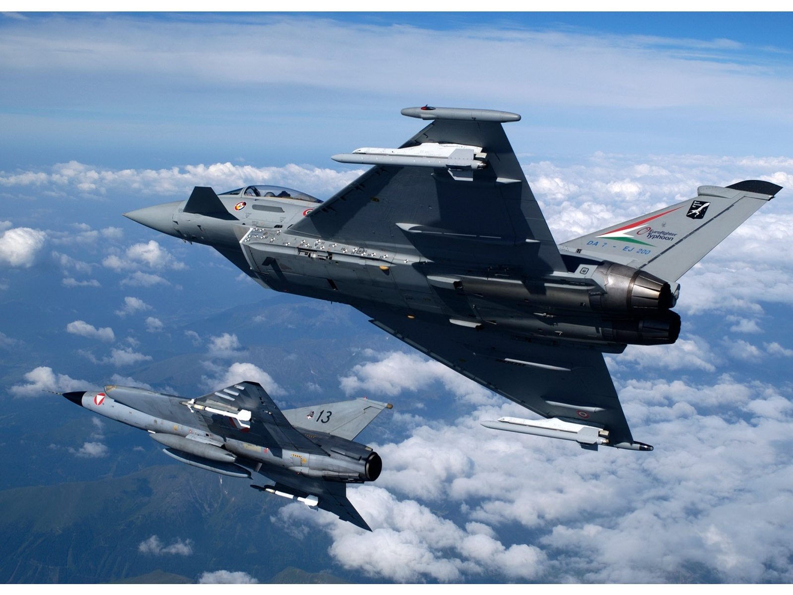 Two Eurofighter Typhoon