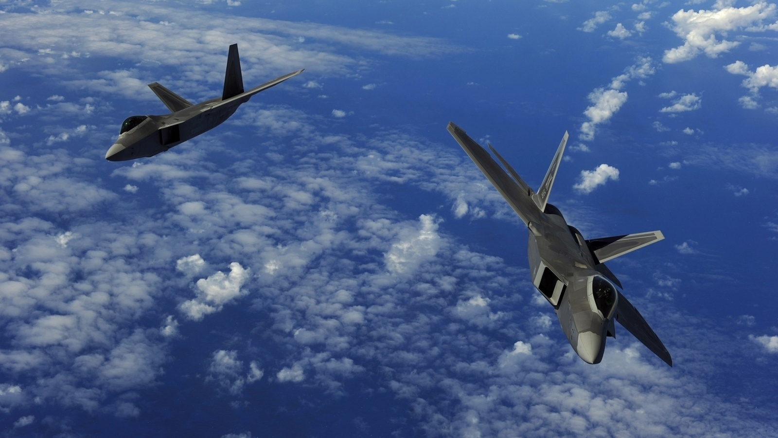 Two F-22 Raptor Aircraft