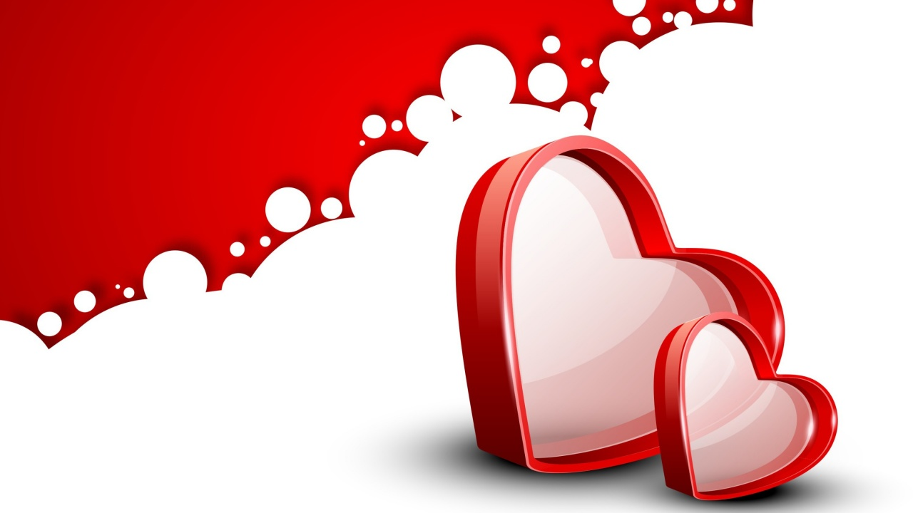 Love Wallpaper 720x1280 : Two Love Heart Wallpapers - 1280x720 - 107119