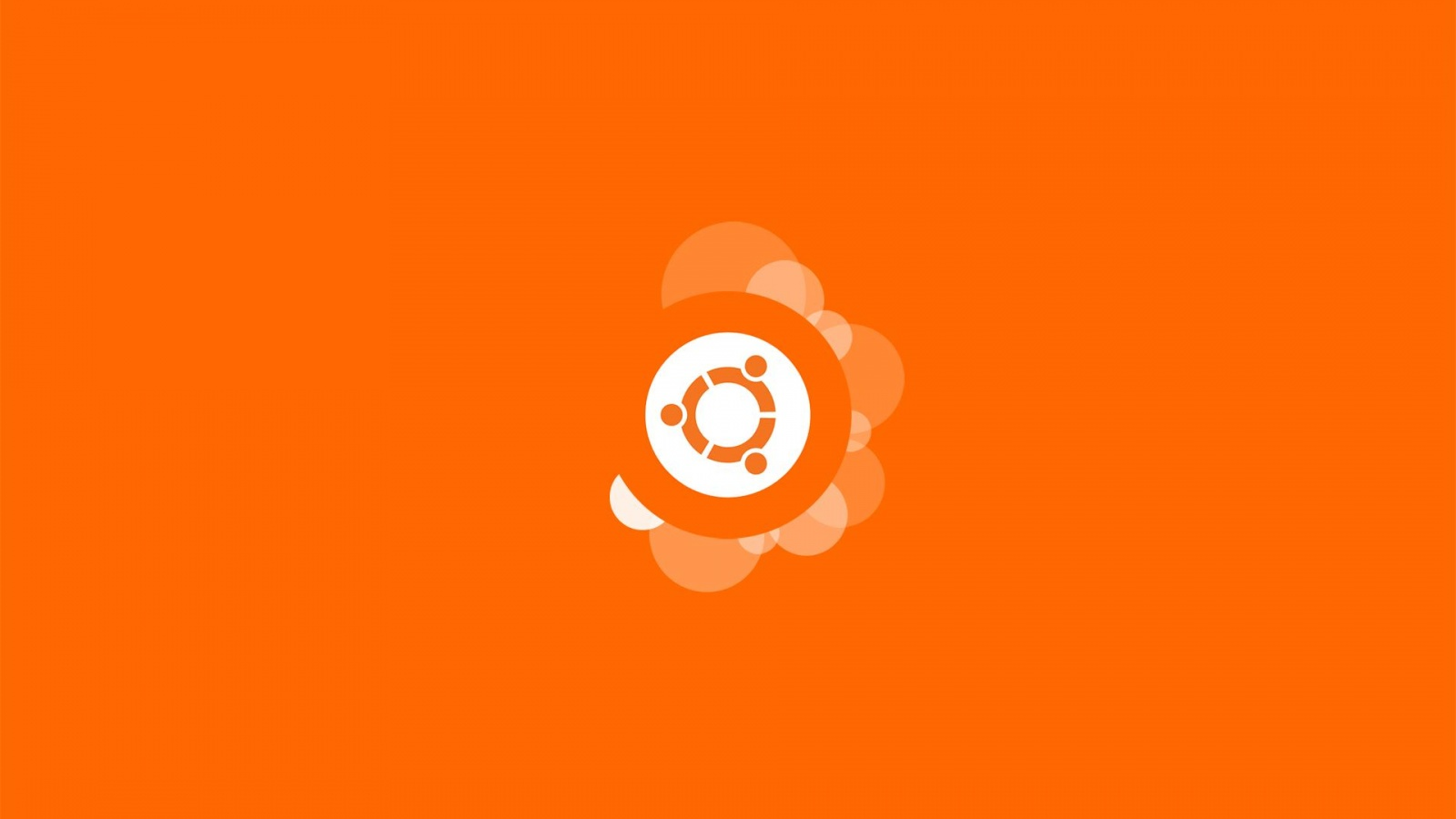 Ubuntu Orange Background