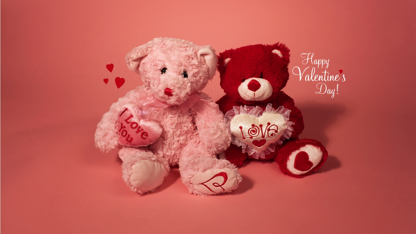 Valentine Teddy Bears | 1366 x 768 | Download | Close