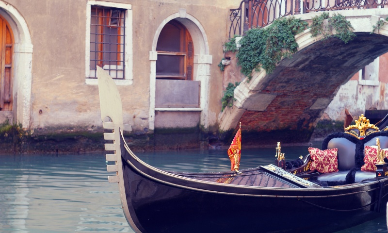 Venice Channel And Gondola