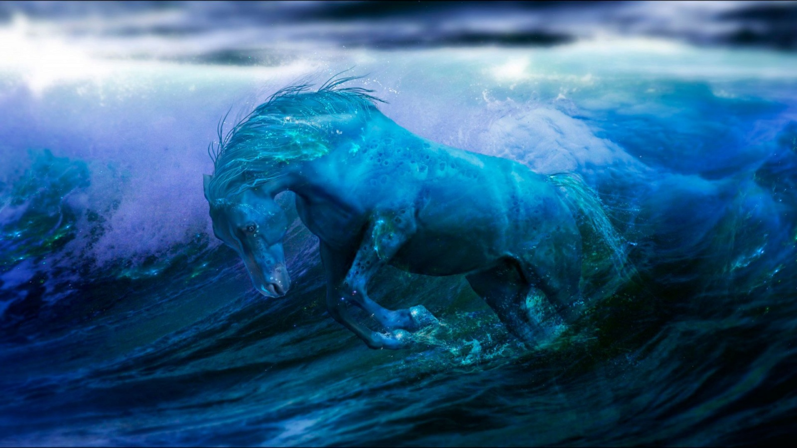 Water horse wallpaper - photo#4