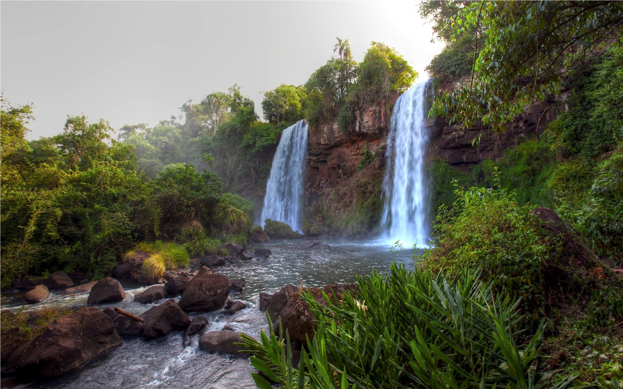 Waterfalls River Landscape  1280 x 800  Download  Close