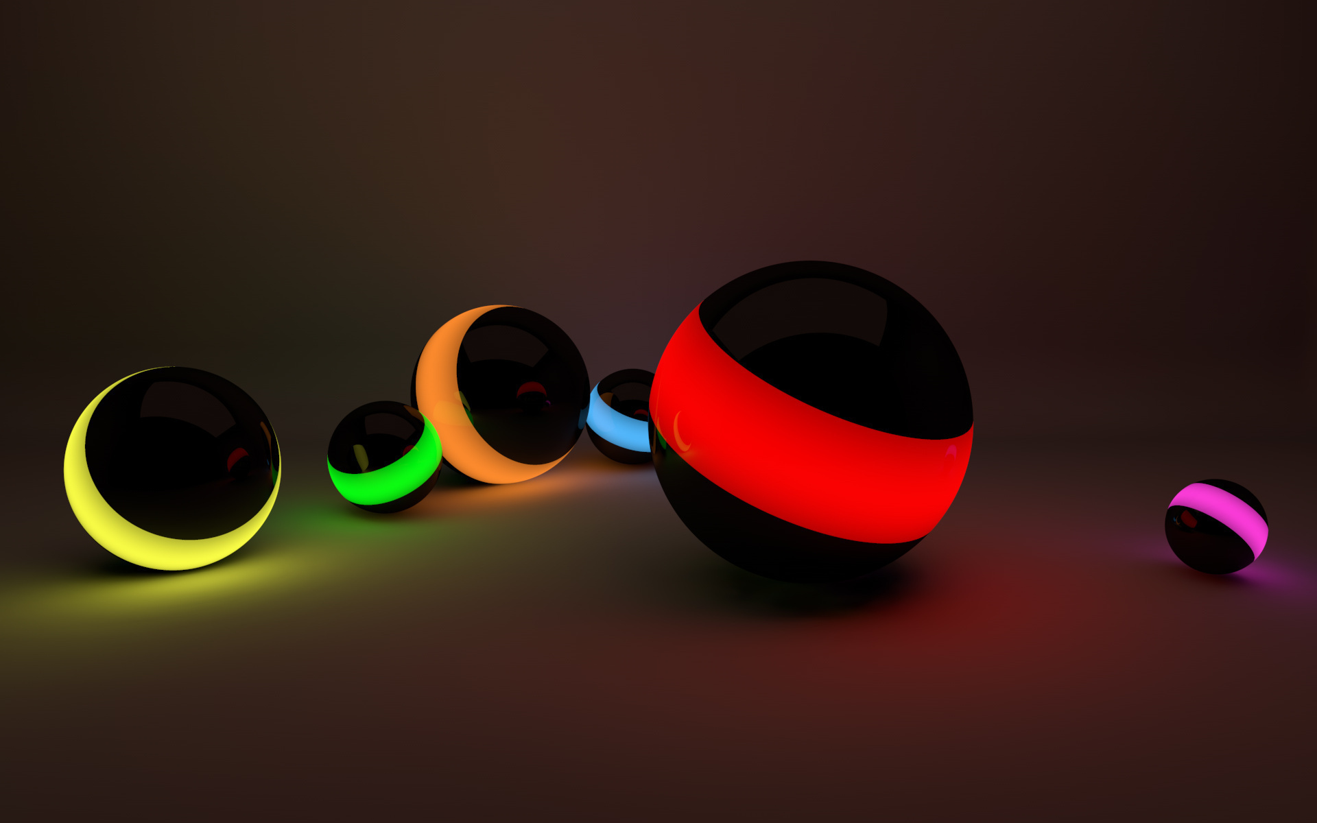 3d colored balls wallpapers - 1920x1200 - 210379