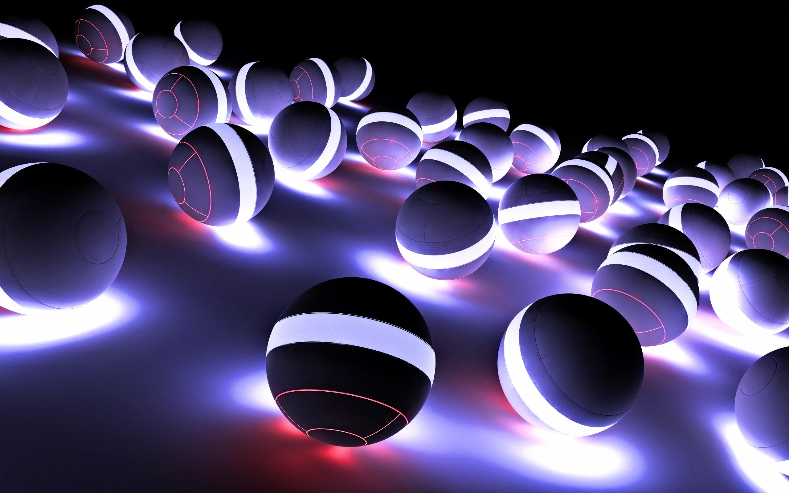 3d neon ball wallpapers - 2560x1600 - 2386008