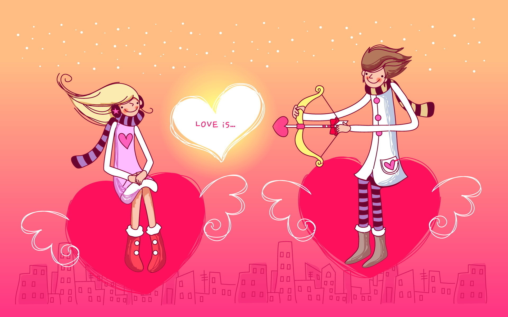 Boy And A Girls Love Heart | 1920 x 1200 | Download | Close