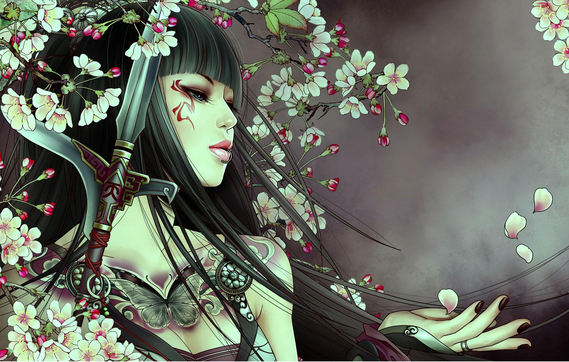 Anime girl with sword wallpapers 1886x1202 412441 - Girl with sword wallpaper ...