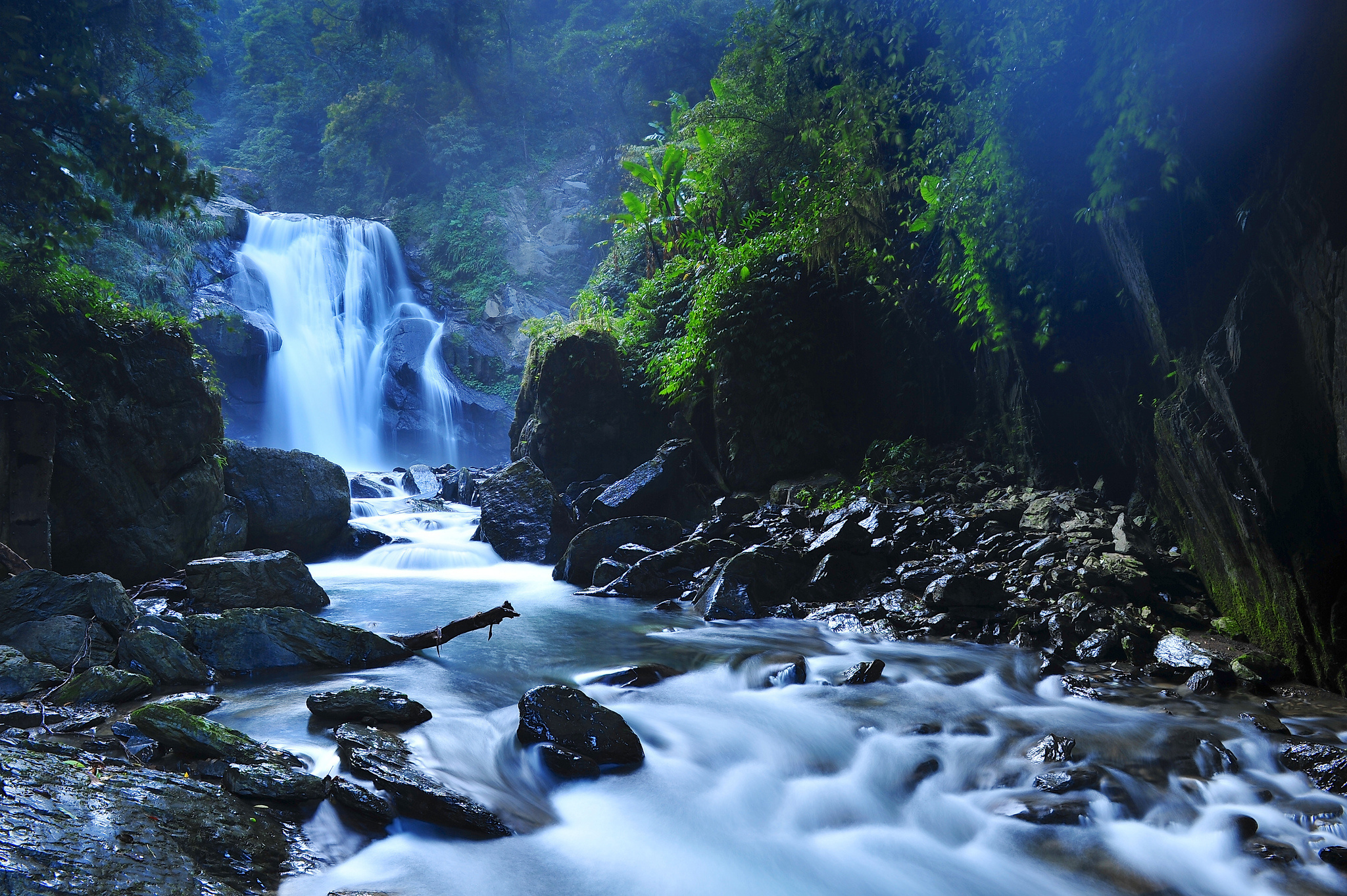 Beautiful Taiwan Forest Waterfalls