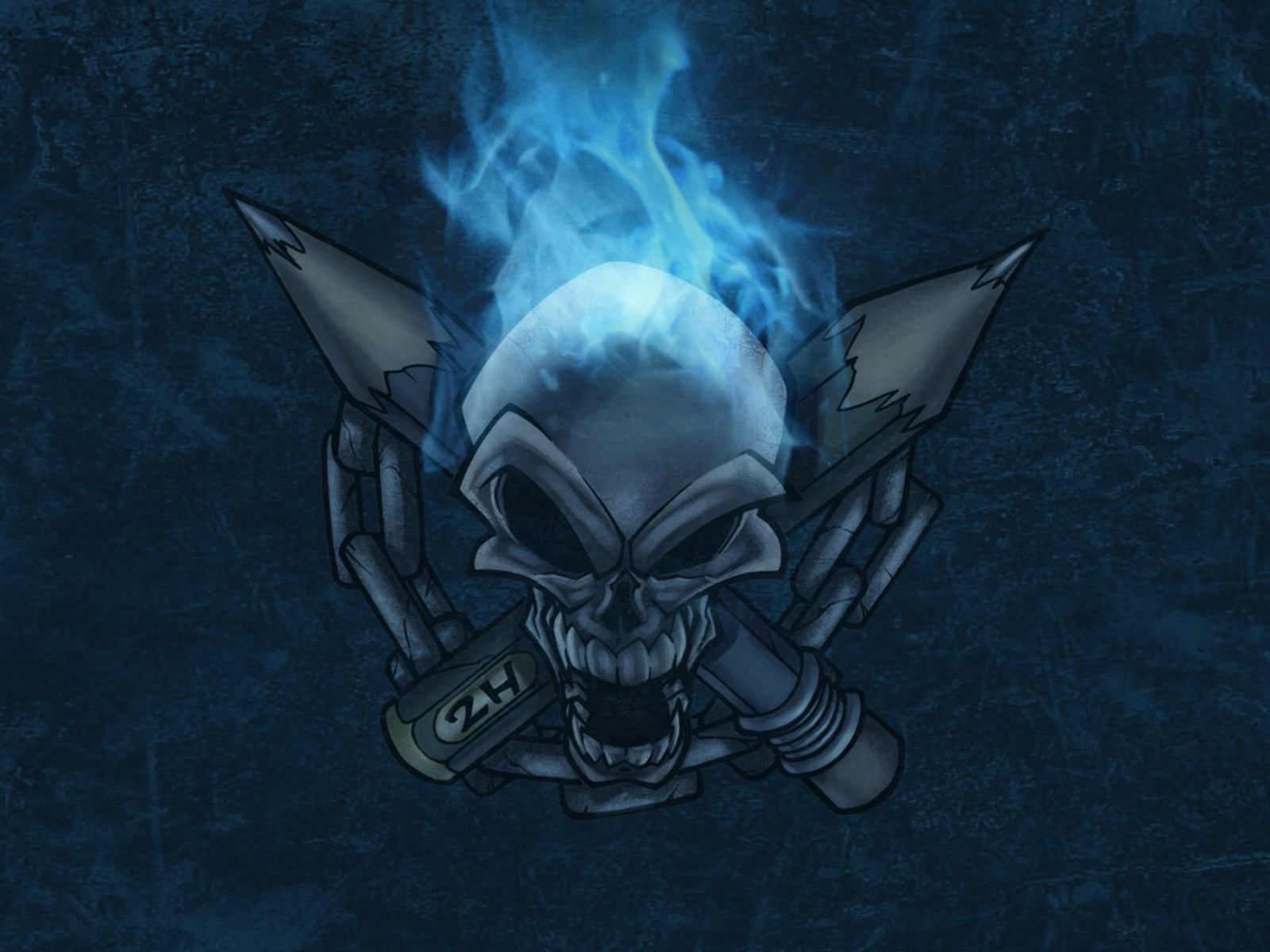 Blue Flame Skull Click To View