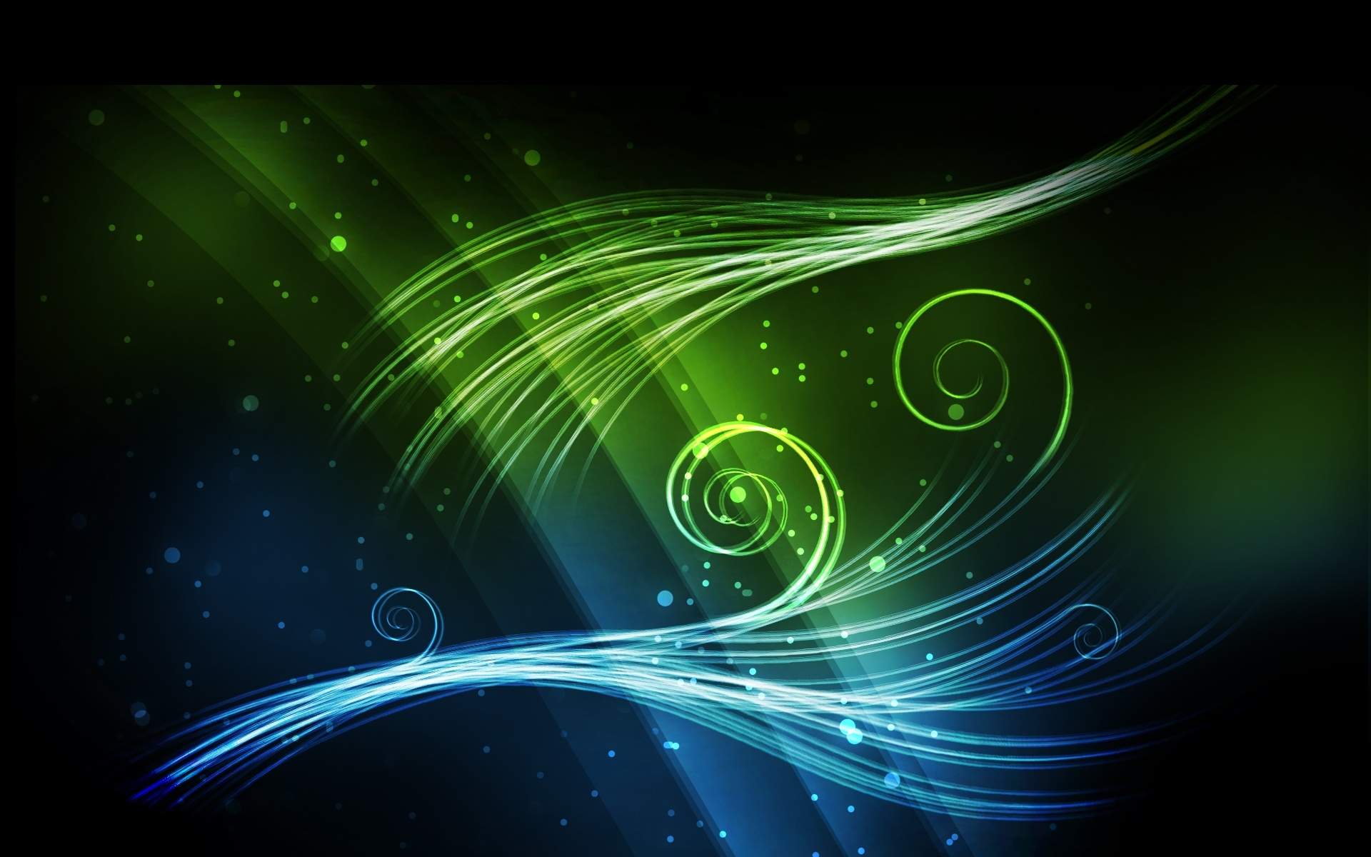 Blue Green Abstract Background Blue Green Shiny Abstract