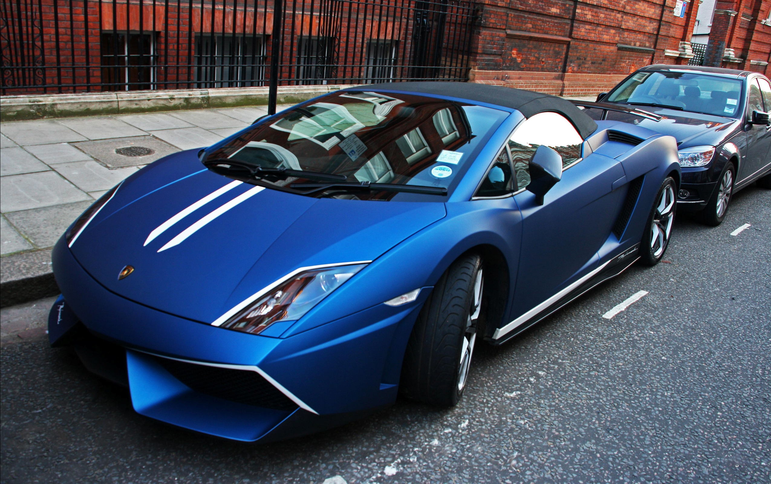 blue lamborghini gallardo park - Lamborghini Gallardo Wallpaper Blue