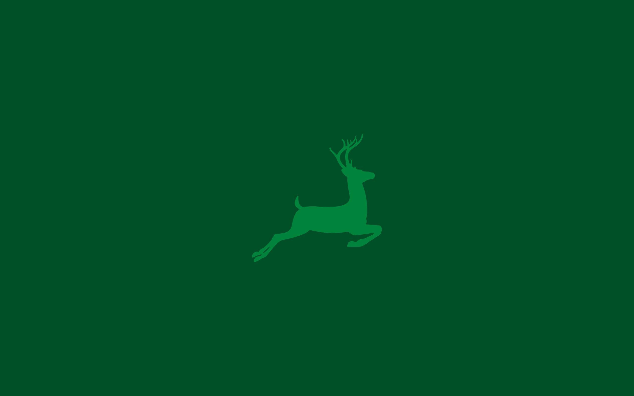 Christmas Green.Christmas Deer Green Background Wallpapers
