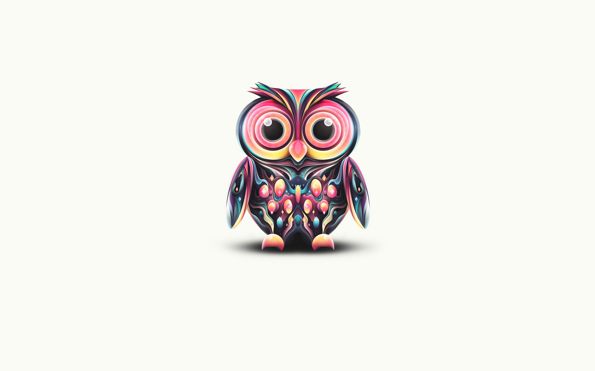 Cute Owl Painting   1920 x 1200   Download   Close