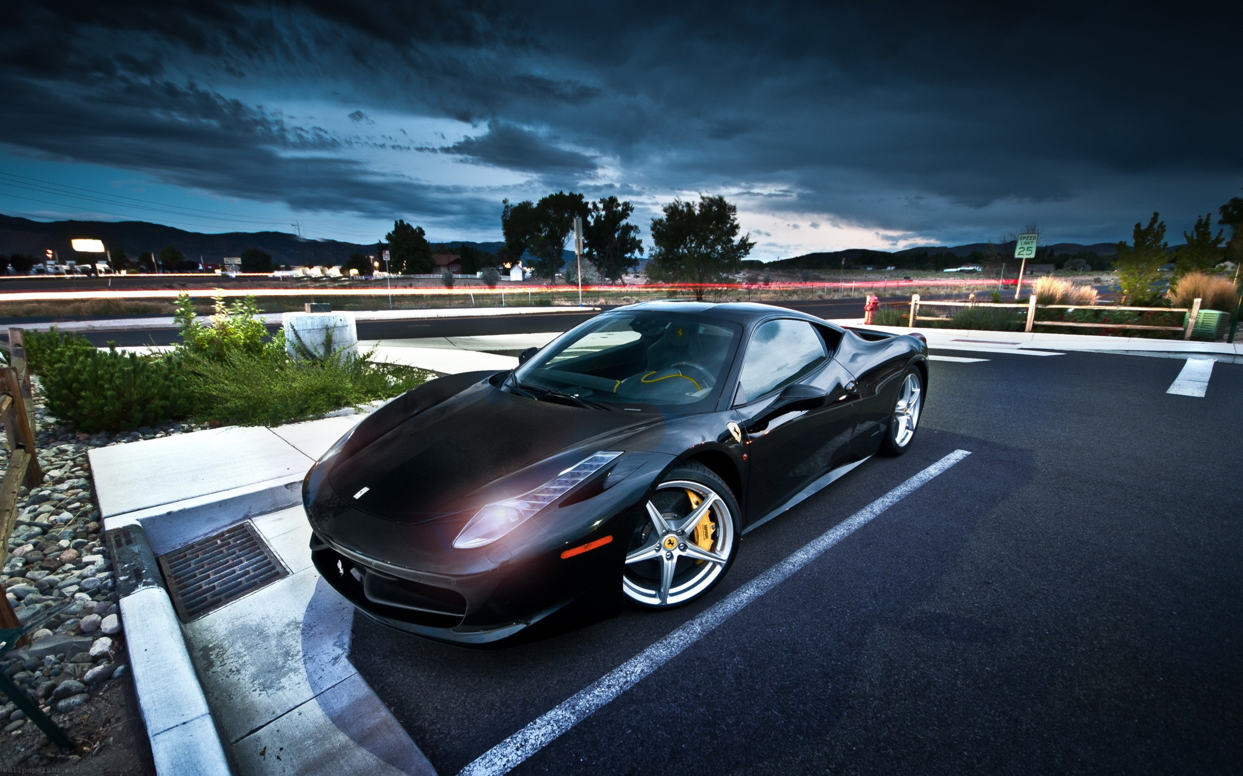 Simple Wallpaper Night Ferrari - ferrari_street_night-wide  You Should Have-898062.jpg