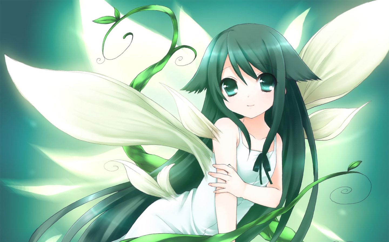 flower anime girl wallpapers - 1440x900 - 484858