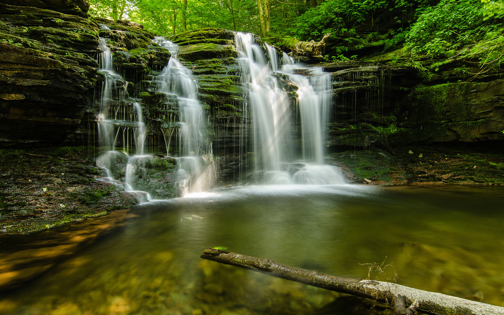 Forest Green Waterfalls | 1920 x 1200 | Download | Close