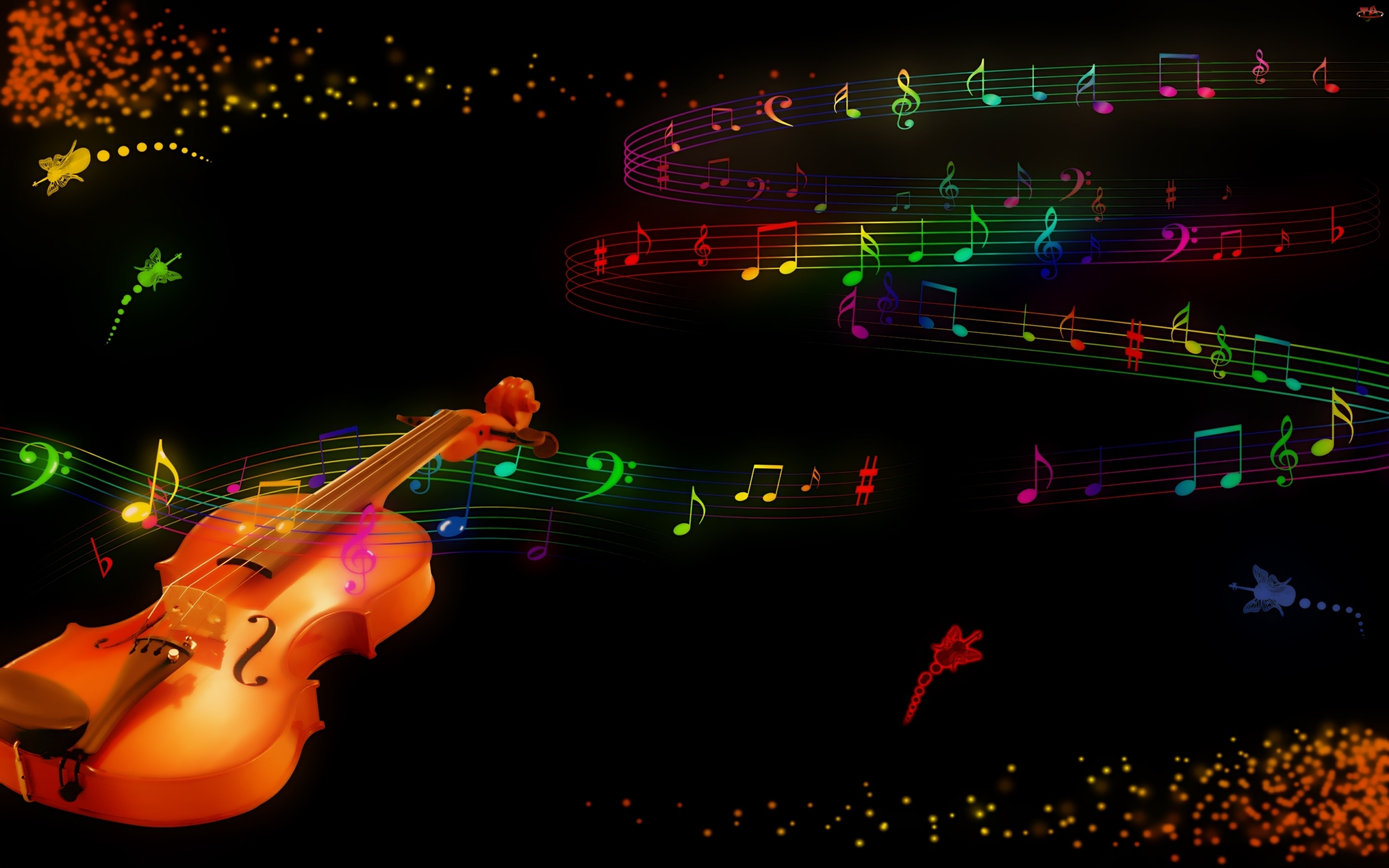 Abstract Art Music Notes Background 1 Hd Wallpapers: Gitara Nutki Wallpapers
