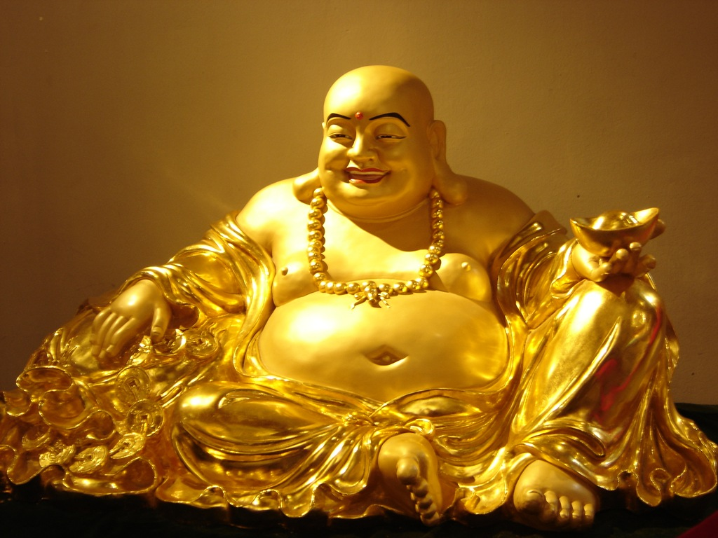 Life in a nutshell angry buddha for Does buddha bring good luck