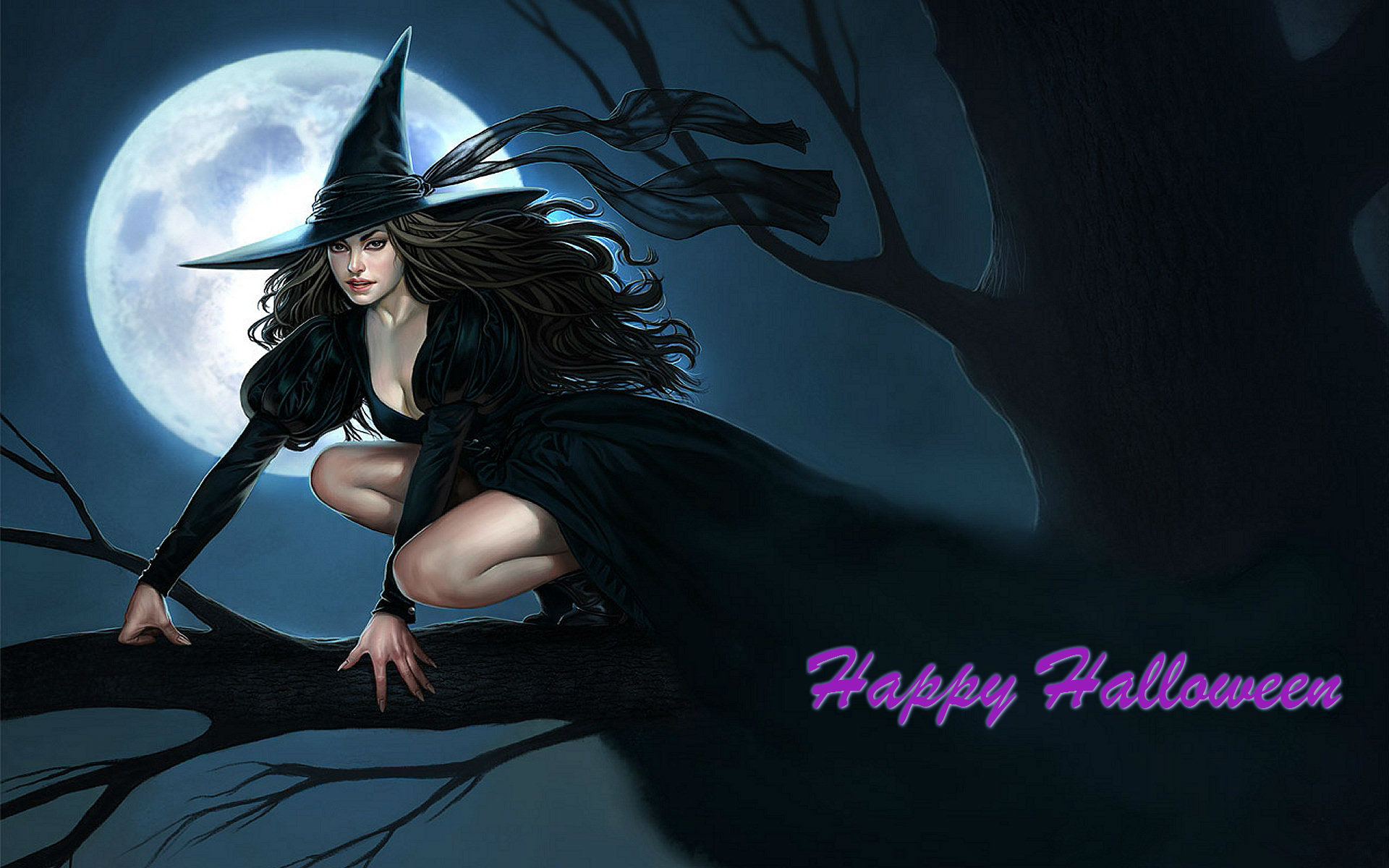 The Witch of Halloween Wallpaper · HD Wallpapers