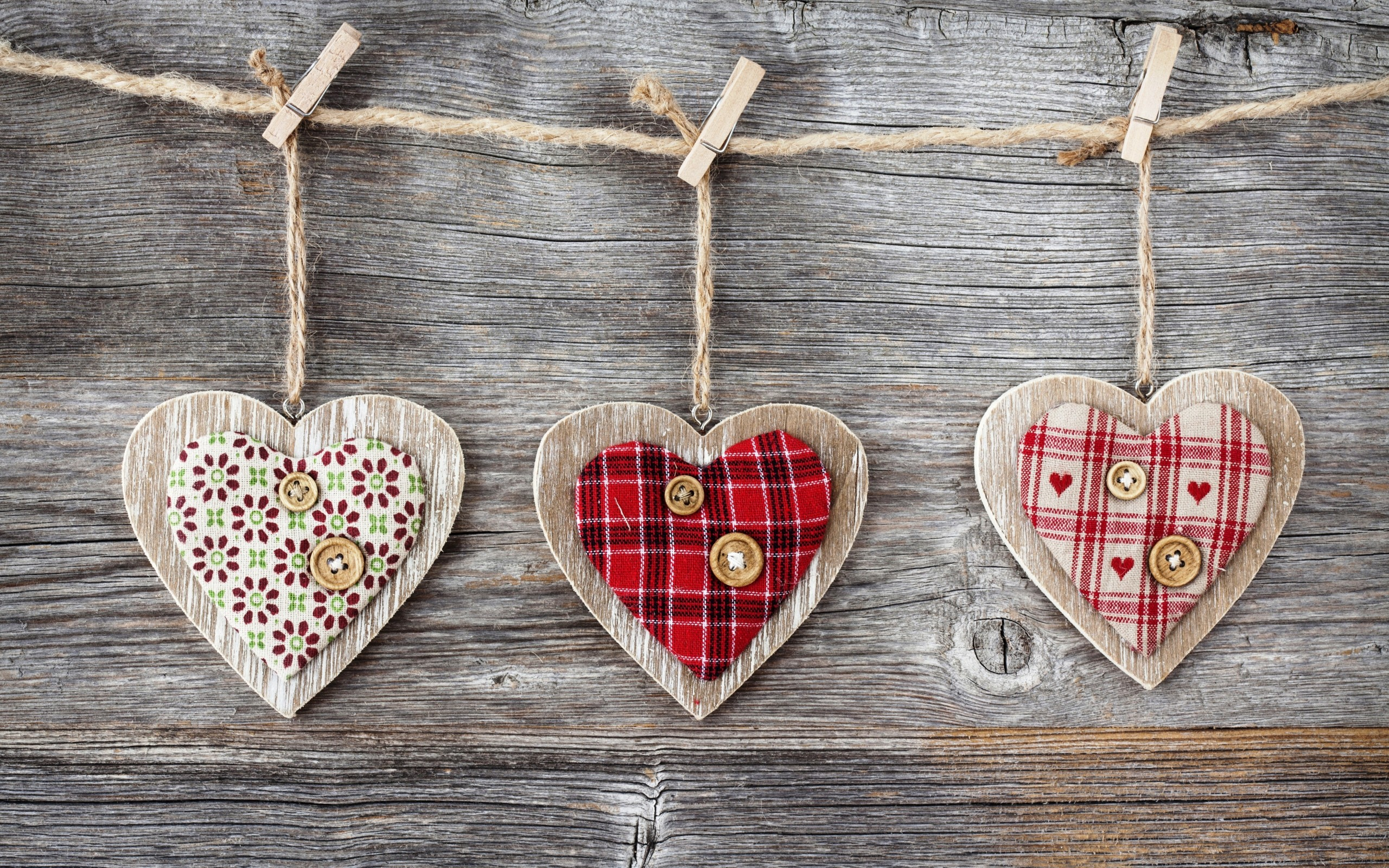 Heart Over A Wooden Background