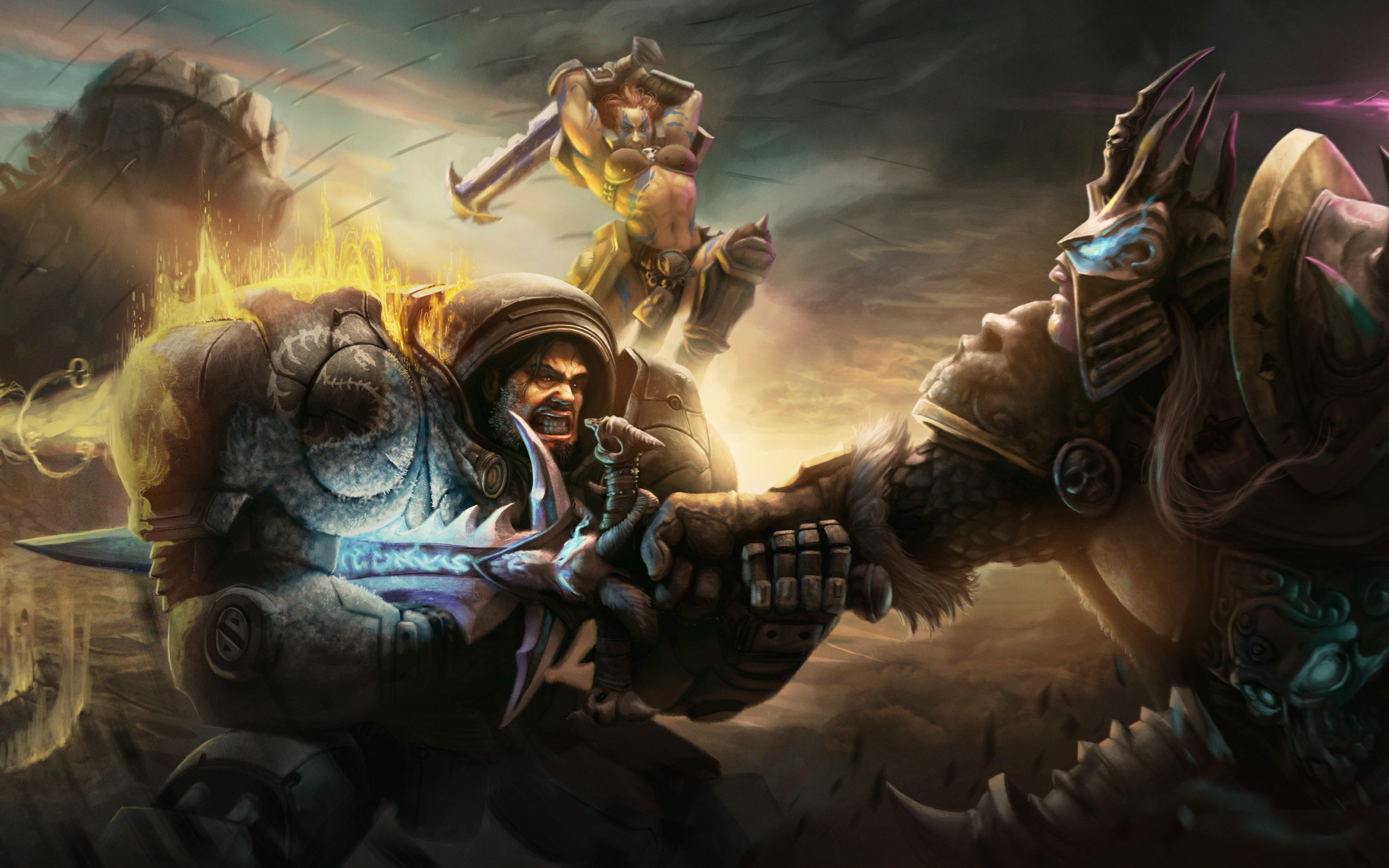 Heroes Of The Storm Battle Raynor Sonya And Arthas Click To View
