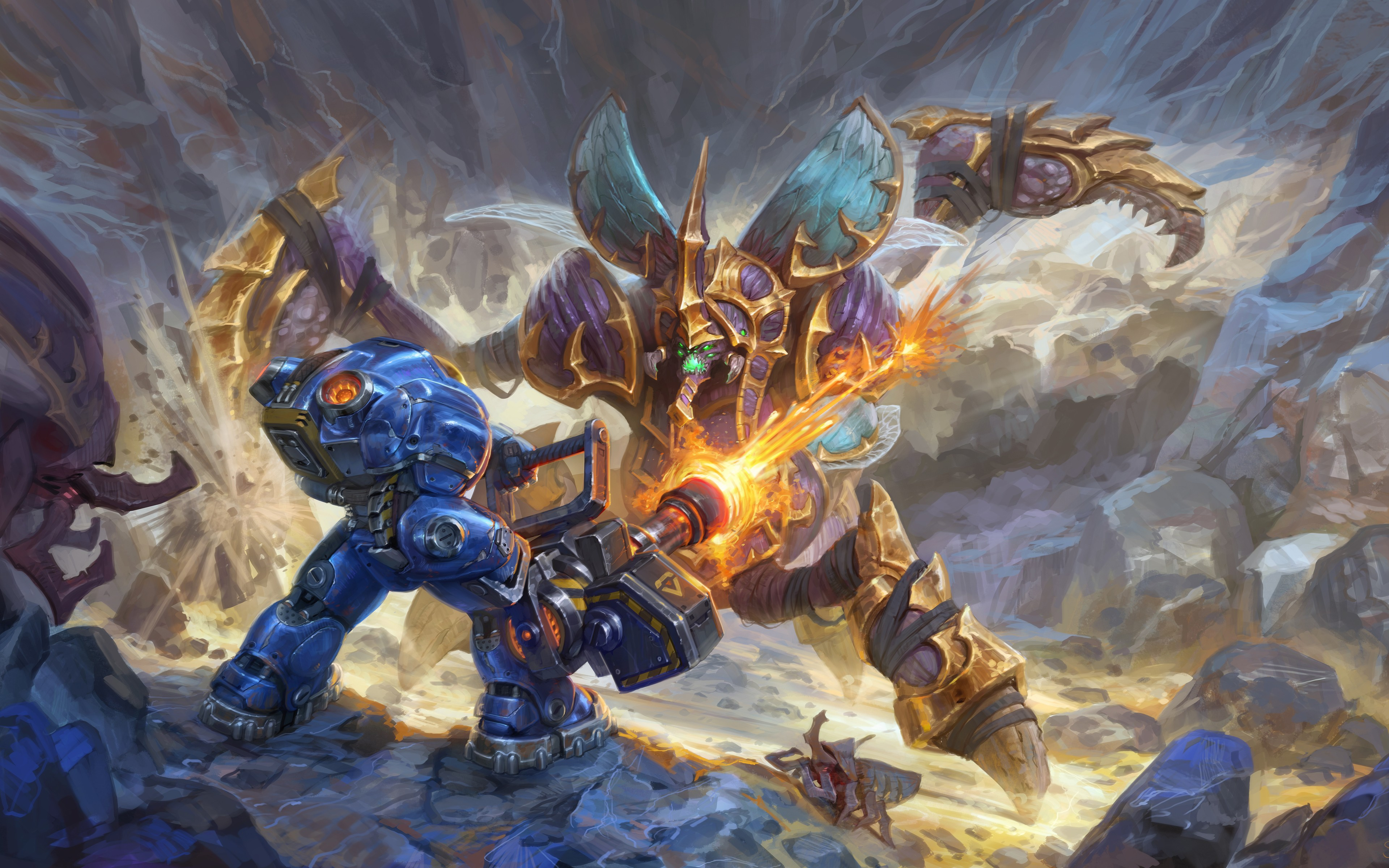 Heroes Of The Storm Tychus Vs Anubarak