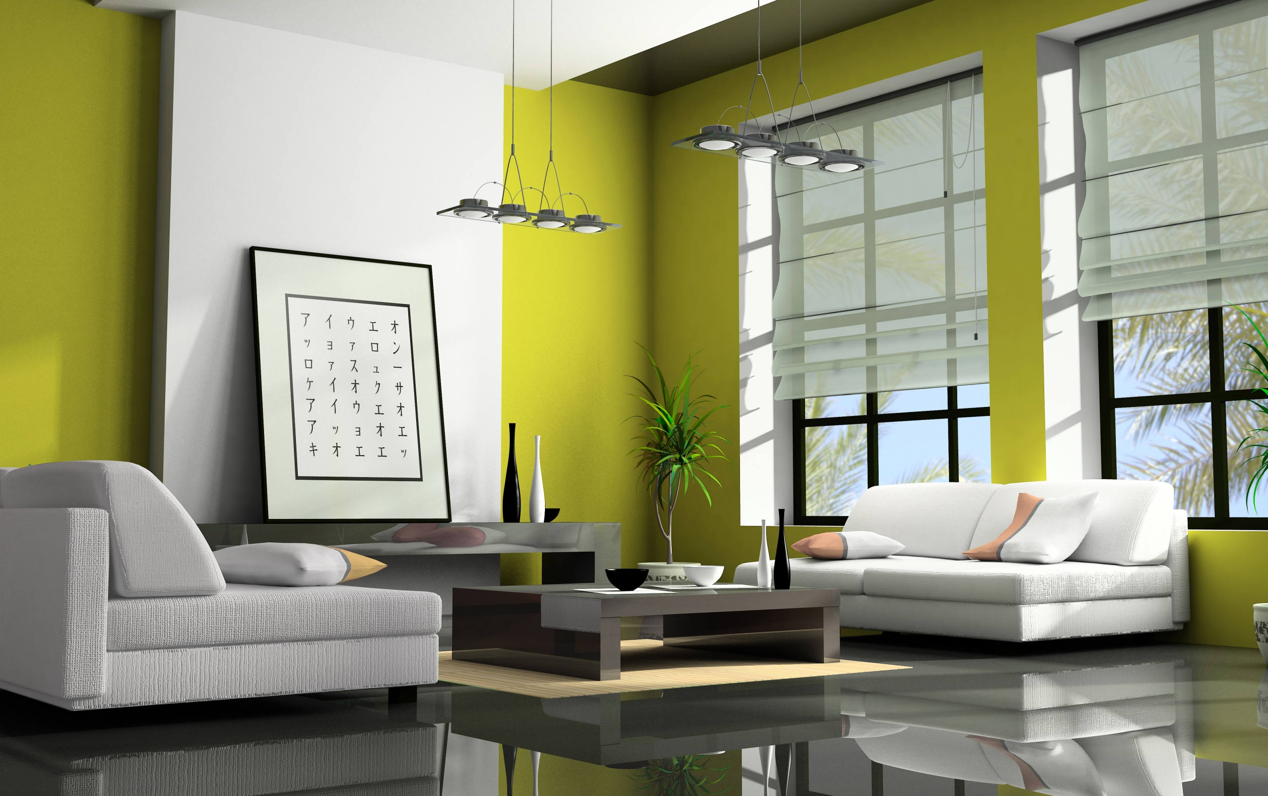 Interior Color Prepossessing With Green Living Room Color Photo