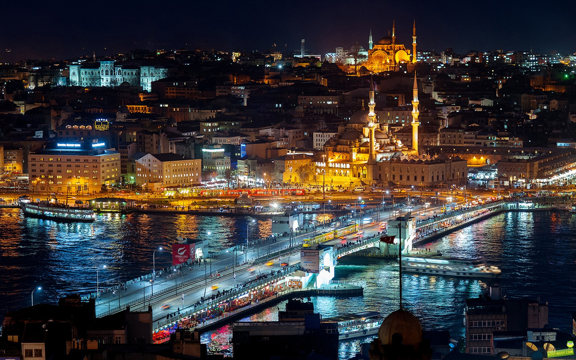 Istanbul Night Cityscape