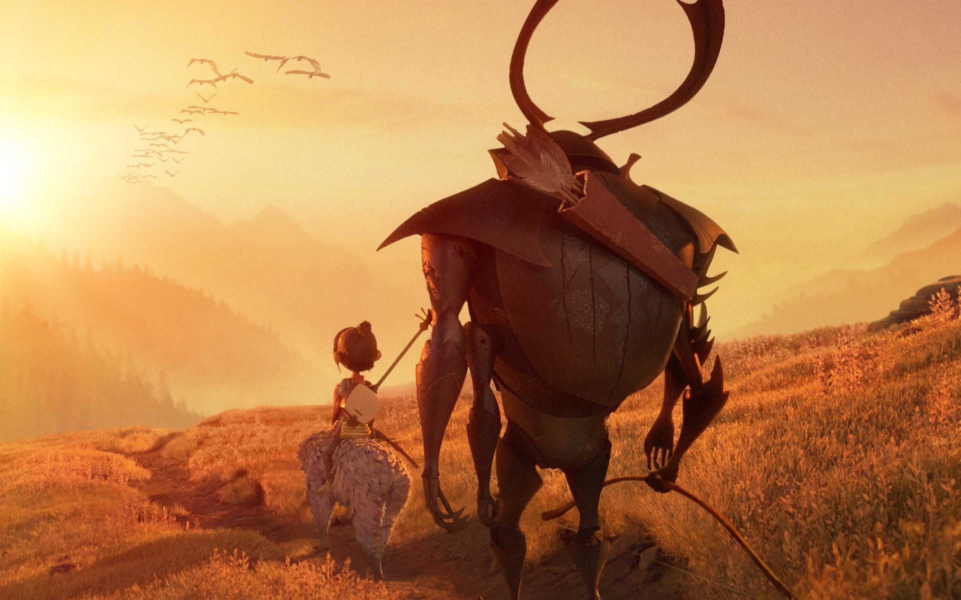 Kubo And The Two Strings Beetle And Kubo Wallpapers 1920x1200