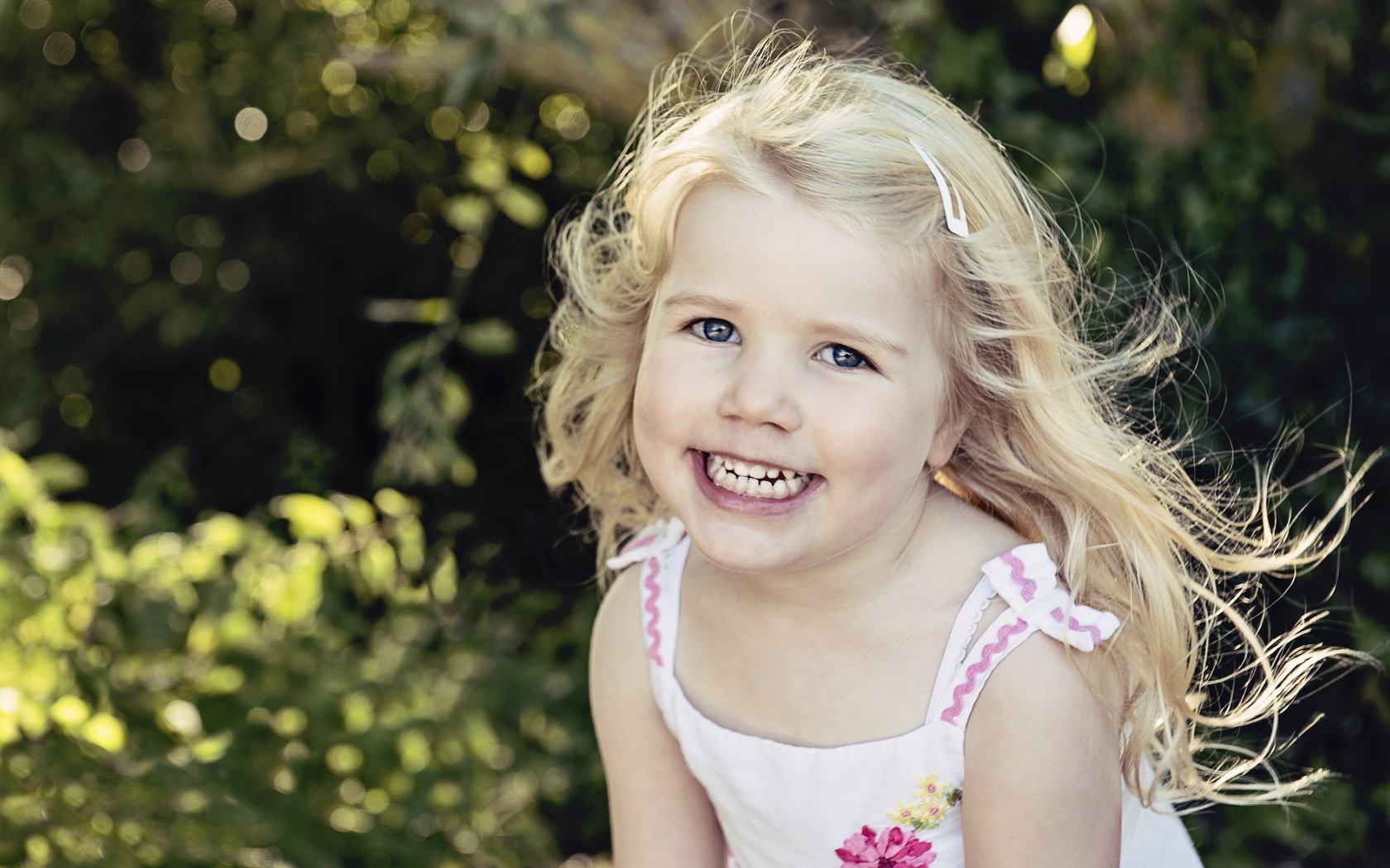 Little Girl Happy Look
