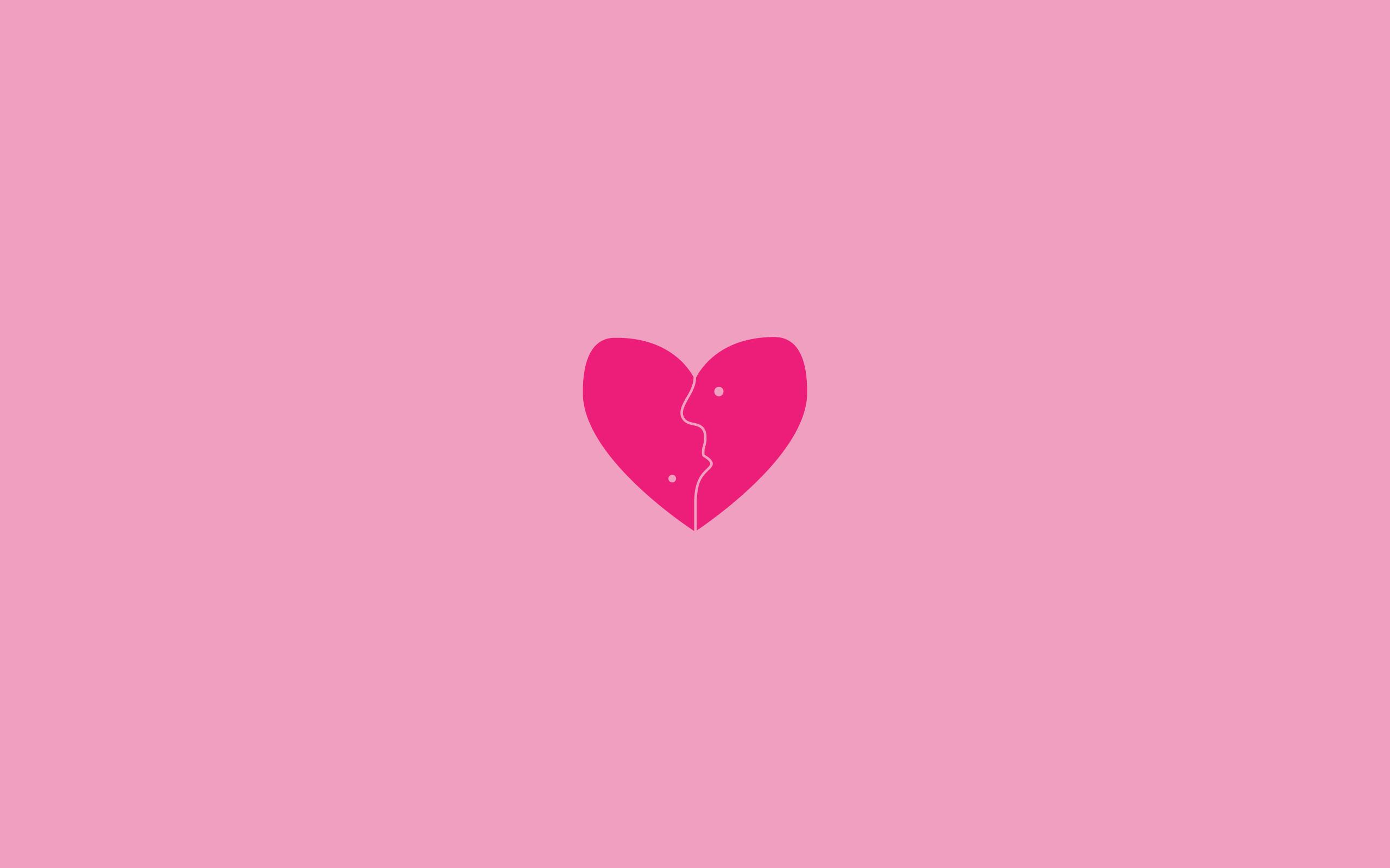 Little Heart Pink Background Wallpapers - 2560x1600 - 69974