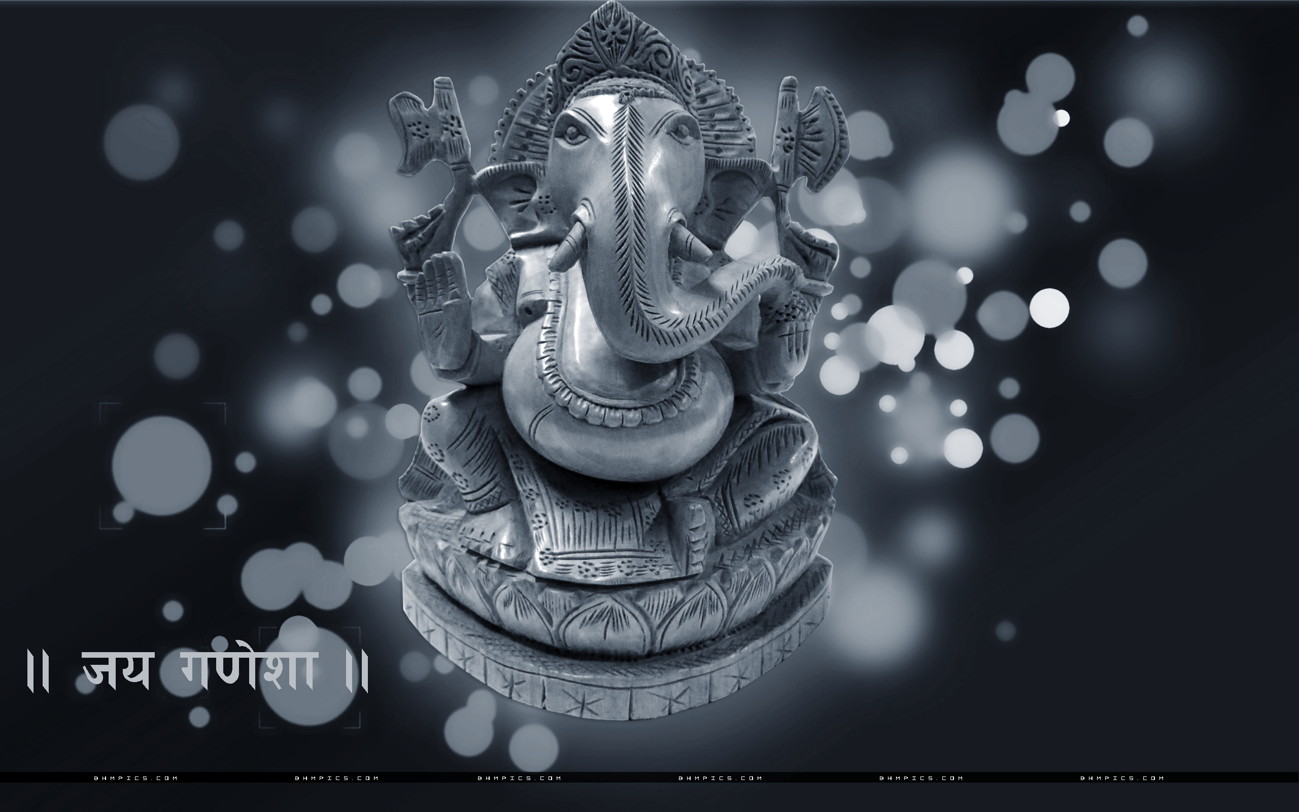 Lord Ganesha Abstract Background Wallpapers