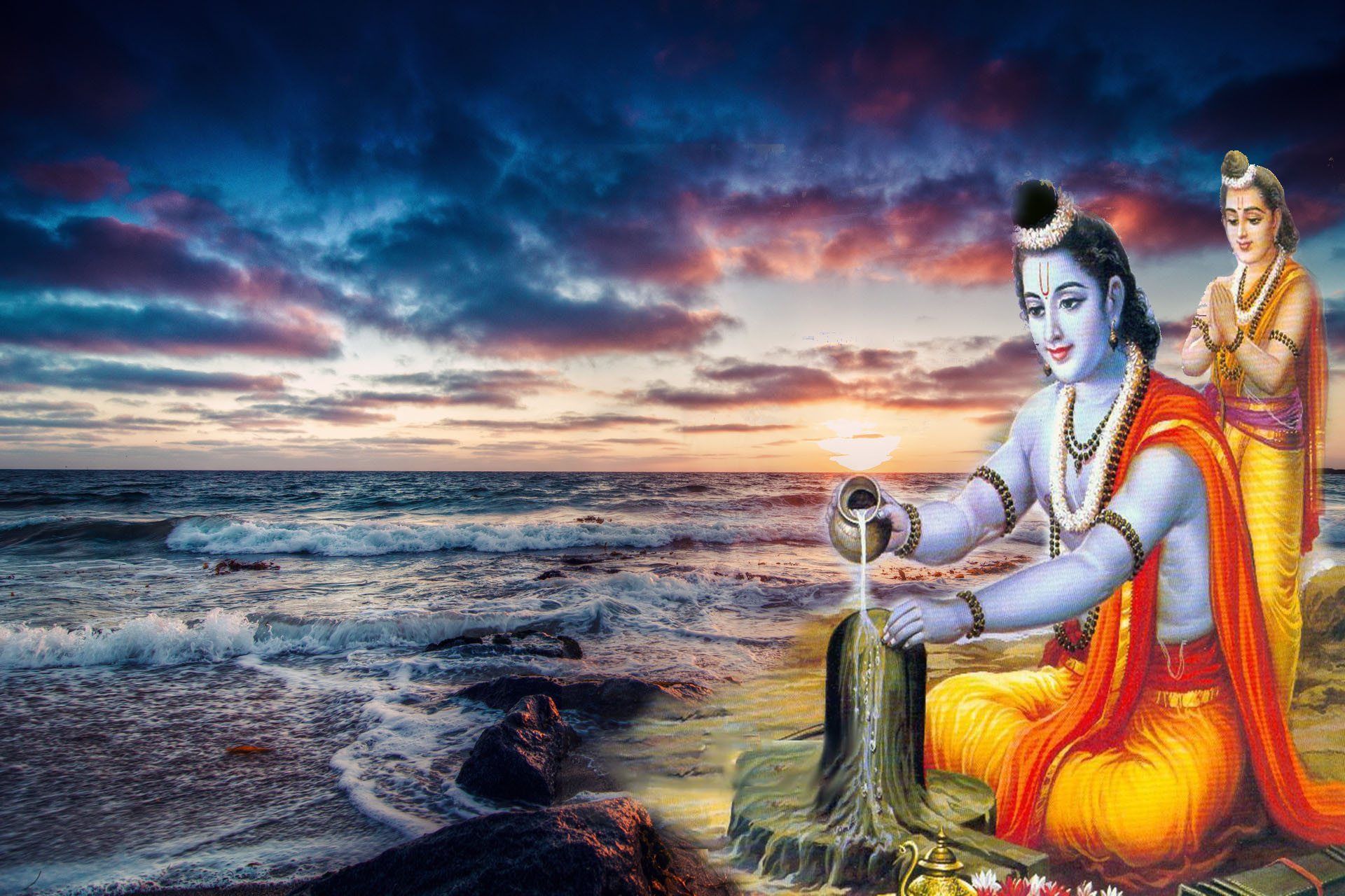 New Popular Beautiful Shiva Worship Rama images for free download